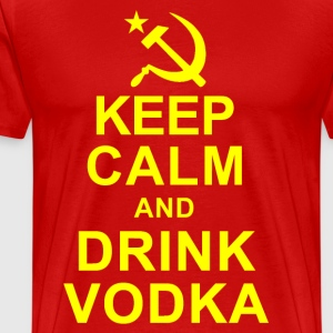 Keep Calm and Drink Vodka T-Shirts - Men's Premium T-Shirt