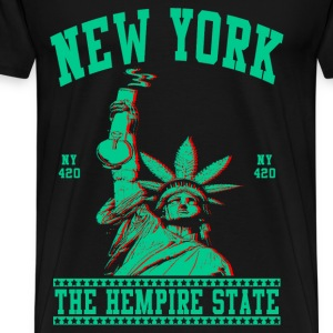 New York-Statue of Liberty - Men's Premium T-Shirt