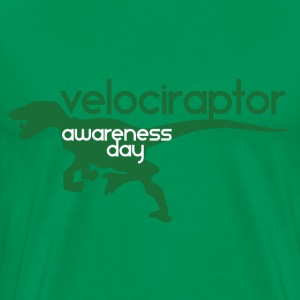 Velociraptor Awareness Day - Men's Premium T-Shirt