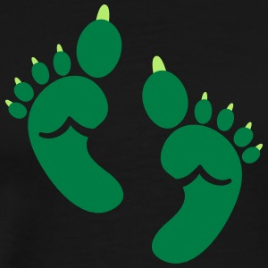 Single set of green OGRE feet toes Halloween T-Shirts - Men's Premium T-Shirt