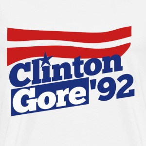 Clinton Gore retro 90s politics - Men's Premium T-Shirt