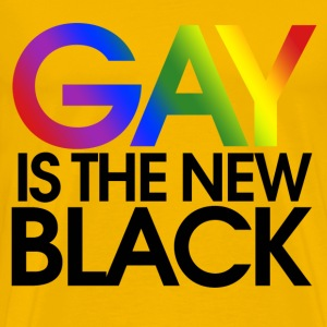 GAY is the new black - Men's Premium T-Shirt