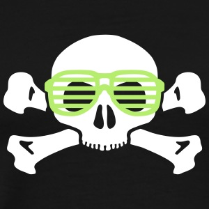 skull and glasses geek nerd T-Shirts - Men's Premium T-Shirt