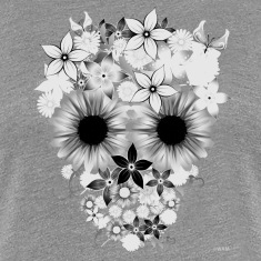 Skull Flowers Women's T-Shirts