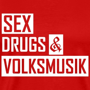 sex drugs & volksmusik T-Shirts - Men's Premium T-Shirt