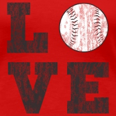 Vintage Baseball Love Women's T-Shirts