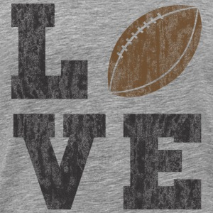 Vintage Football Love T-Shirts - Men's Premium T-Shirt