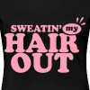 Sweatin' My Hair Out (Plus Sized Shirt) - Women's Premium T-Shirt