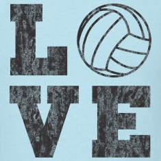 Vintage Volleyball Love T-Shirts