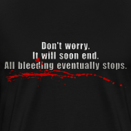 Design ~ All Bleeding Stops - Men's Heavyweight  T-Shirt
