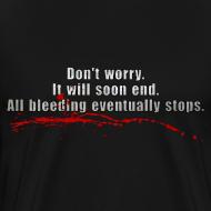 Design ~ All Bleeding Stops - Men's Heavyweight  T-Shirt