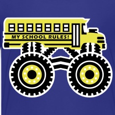 The Monsterous School Bus Kids' Shirts