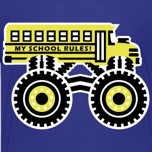The Monsterous School Bus Kids' Shirts - Kids' Premium T-Shirt