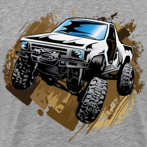 White Muddy Truck T-Shirts - Men's Premium T-Shirt