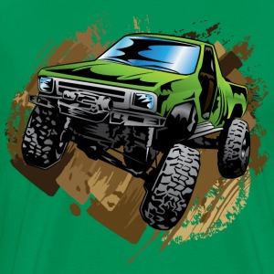 Green Muddy Truck T-Shirts - Men's Premium T-Shirt
