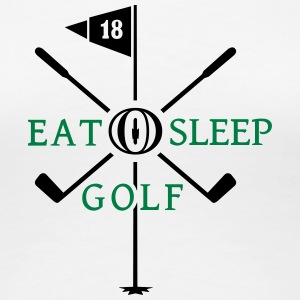 eat sleep golf (2c) Women's T-Shirts - Women's Premium T-Shirt