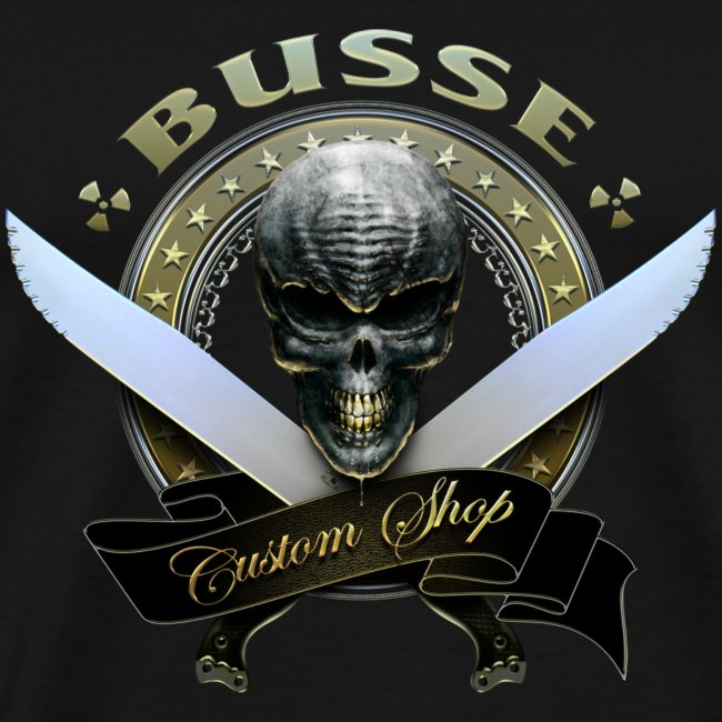 Custom Shop Skull Mens Tee