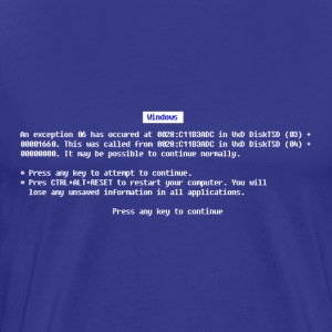 Blue Screen - Men's Premium T-Shirt