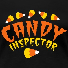 FUNNY HALLOWEEN candy inspector! candy corn Women's T-Shirts