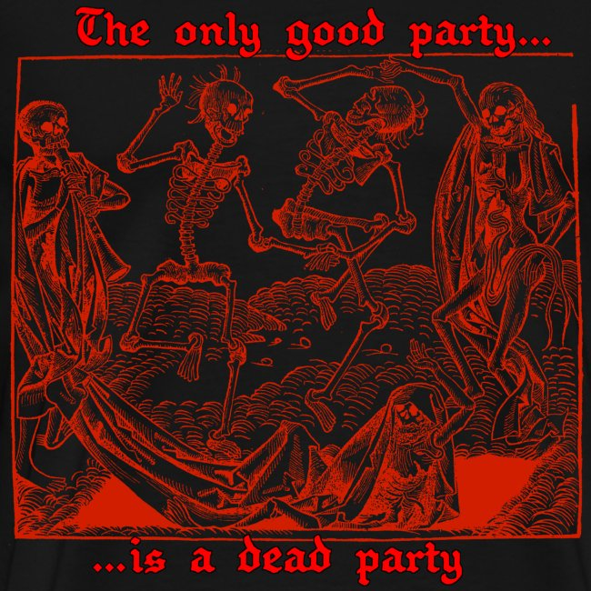 Dead Party (Red) - Heavy Weight Men's Shirt