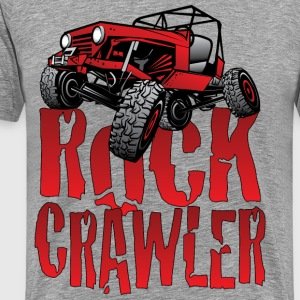 Red Jeep Rock Crawler Light T-Shirts - Men's Premium T-Shirt
