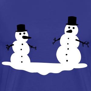 Snowmen Snowman Snow men man T-Shirts - Men's Premium T-Shirt