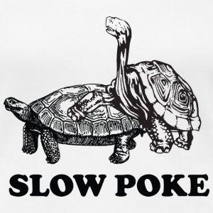 Slow Poke Turtles Women's T-Shirts - Women's Premium T-Shirt