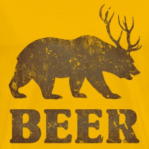 Vintage Bear+Deer=Beer - Men's Premium T-Shirt