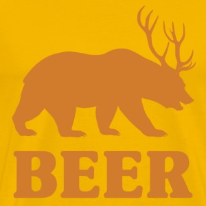 Bear+Deer=Beer - Men's Premium T-Shirt