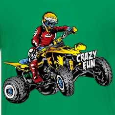 Crazy Fun Quad Rider Kids' Shirts