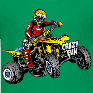 Crazy Fun Quad Rider Kids' Shirts - Kids' Premium T-Shirt
