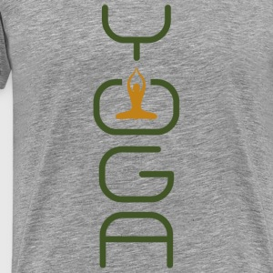 I love Yoga - Men's Premium T-Shirt