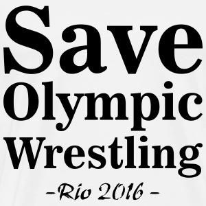 Save Olympic Wrestling T-Shirts - Men's Premium T-Shirt