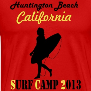 Surf Camp 2013 Huntington Beach California T-Shirts - Men's Premium T-Shirt