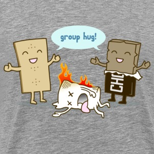 Funny Smores - Group Hug - Men's Premium T-Shirt