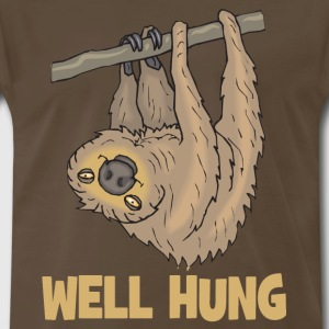 Well Hung Sloth T-shirt - Men's Premium T-Shirt