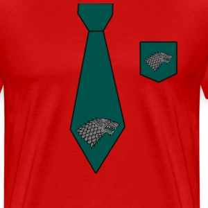 Tie And Pocket  T-Shirts - Men's Premium T-Shirt