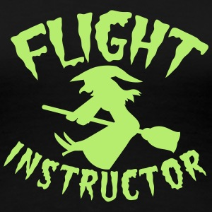 witch on a broomstick flight instructor HALLOWEEN Women's T-Shirts - Women's Premium T-Shirt