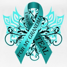 I Wear Teal for My Grandma Women's T-Shirts