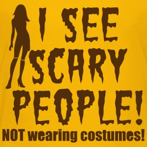 I SEE SCARY PEOPLE! Halloween NOT wearing costumes Kids' Shirts - Kids' Premium T-Shirt