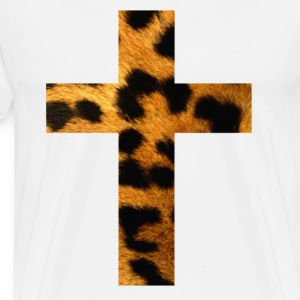 cross leopard - Men's Premium T-Shirt