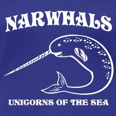 Narwhals. Unicorns of the Sea Women's T-Shirts