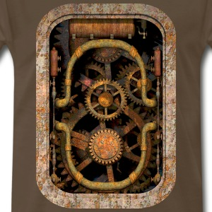 Rusty and Grungy Steampunk Machinery T-shirt - Men's Premium T-Shirt