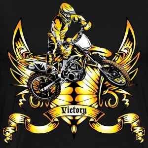 Off-Road Dirt Bike Victory Gold T-Shirts - Men's Premium T-Shirt