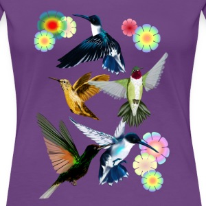 For The Love Of Hummingbirds - Women's Premium T-Shirt