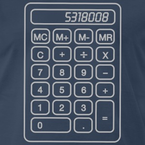 Calculator Boobies T-Shirts - Men's Premium T-Shirt