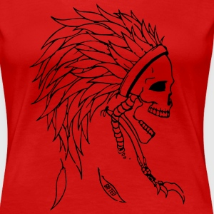 Indian Skull Head Women's T-Shirts - Women's Premium T-Shirt
