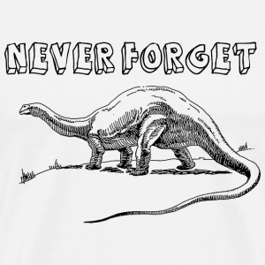 Never Forget Dinosaurs T-Shirts - Men's Premium T-Shirt