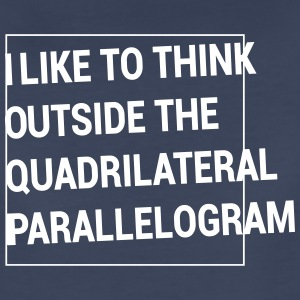 Outside the Quadrilateral Parallelogram Women's T-Shirts - Women's Premium T-Shirt