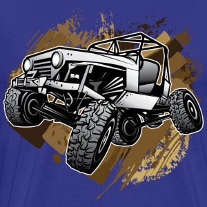 Off-Road Mudding White Jeep T-Shirts - Men's Premium T-Shirt